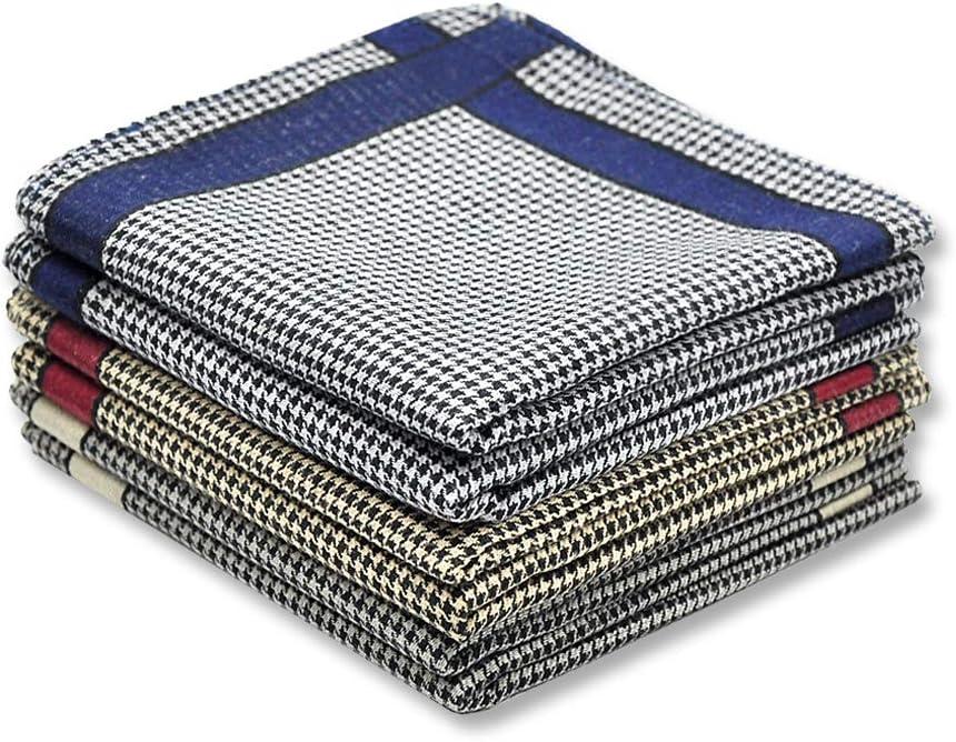 Handkerchiefs Mens 100% Cotton Soft 6 Piece Gift Set by Zenssia