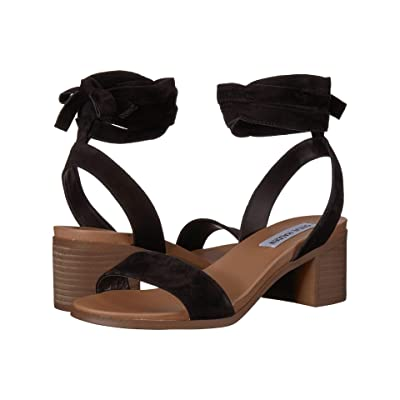Steve Madden Adrianne Heeled Sandal (Black Suede) Women