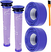 Hongfa Replacement Dyson V8 Pre and Post Filter, Cordless Vacuum Filter for Dyson V7 V8 Animal Absolute Cordless Vacuum Cleaner, Compare to Part#96566101 and 96747801