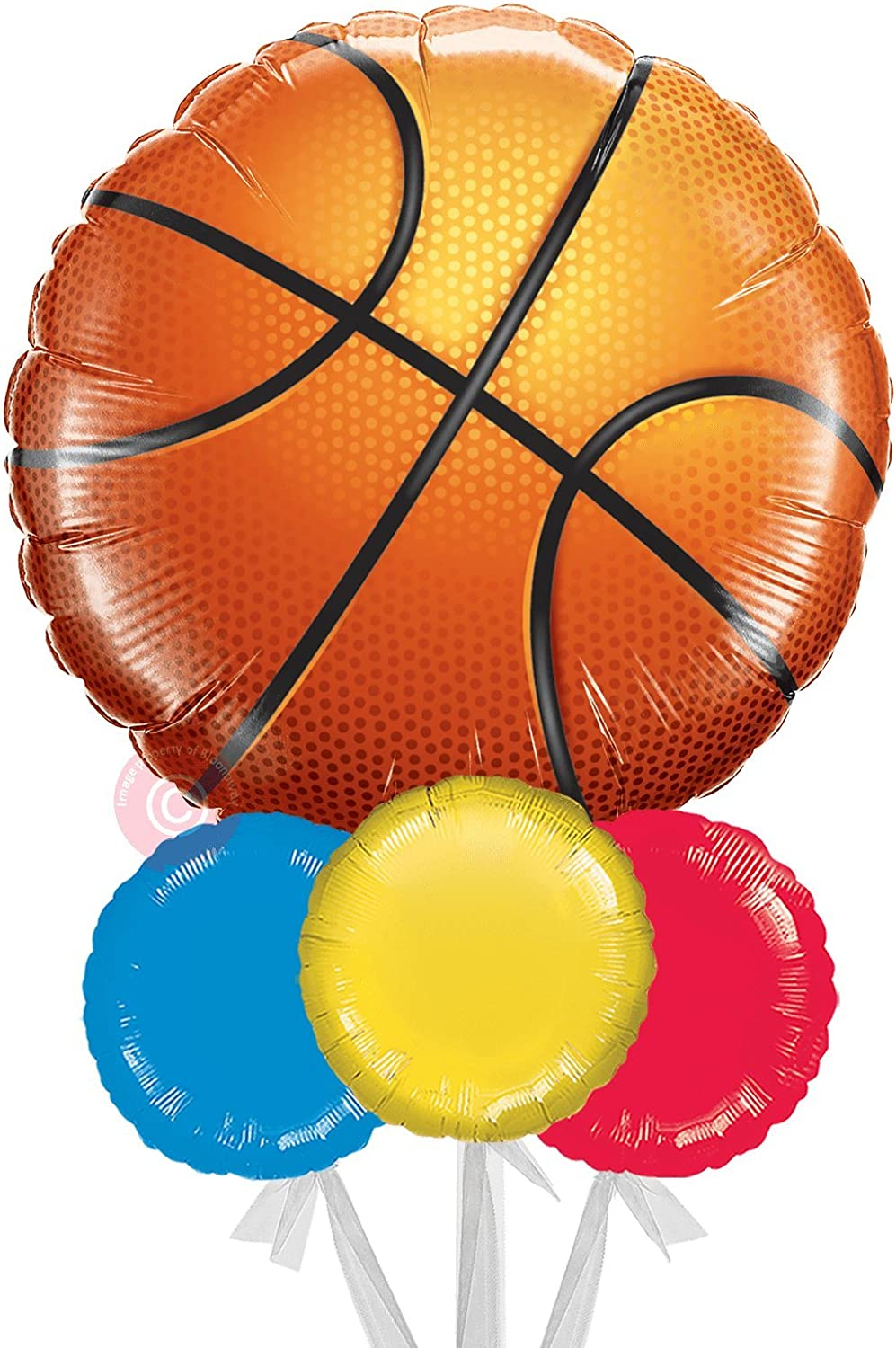 Jumbo Basketball  Inflated Helium Balloon Delivered in a Box  Jumbo Balloon Bouquet  Bloonaway