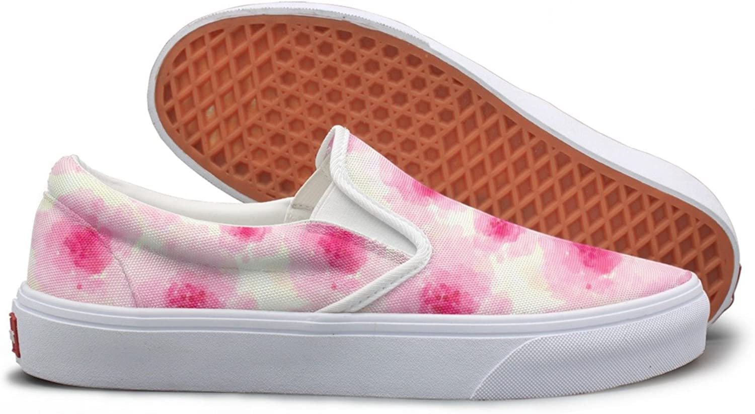 Watercolor Pink Sakura Blossom School Sneakers For Girls