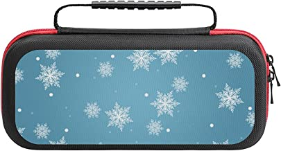 $26 » Light Blue Snowflakes Case Compatible with Switch Case Protective Carry Bag Hard Shell Storage Bag Portable Travel Case fo...