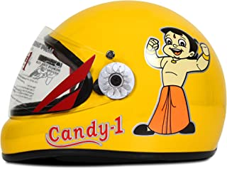 ACTIVE CANDY-1 Full Face Helmet for Kids from 2 to 5 Years (YELLOW,Size-Extra Small)(CARTOON CHARACTERs MAY VERY) (YELLOW)