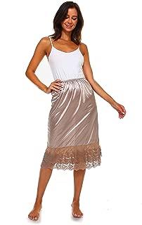 Melody Long lace Satin Half Slip Skirt Extender -28