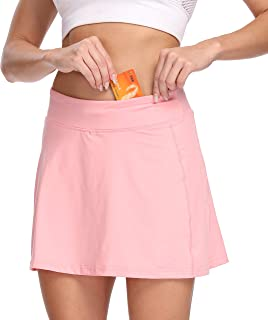 Bodensee Women's Active Athletic Skorts Inner Shorts Running Tennis Golf Sports Skirt with Pockets