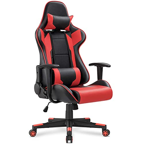 Awesome Gaming Chair Red Amazon Com Creativecarmelina Interior Chair Design Creativecarmelinacom