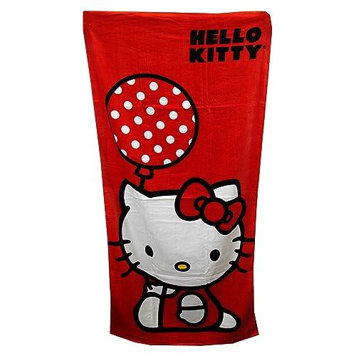 d9ceccba2 Sanrio Polka Dot Balloon Hello Kitty Beach Towel - Hello Kitty Bath Towel
