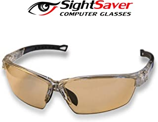 Patented Curved Blue Light Blocking Glasses Prevent Migraines Dry Eyes - Premium Anti-Glare Lenses Protect Against Unfiltered Light - Comfy to Wear - Computer Eyeglasses for Gaming Men Women Kids