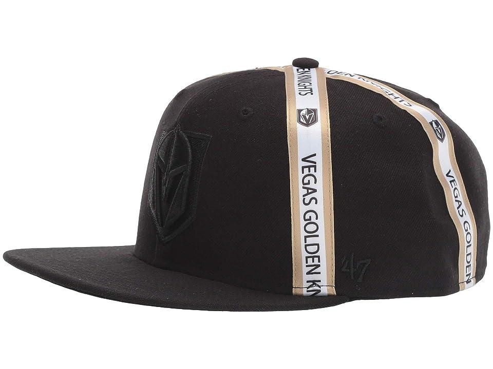 Image of '47 LV Golden Knights Tri Stripe 47 Captain (Black) Baseball Caps