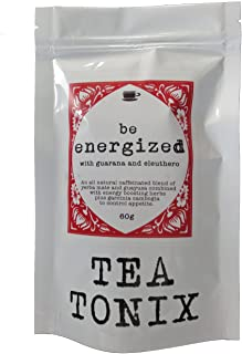 BE Energized Yerba Mate Tea with Guarana, Eleuthero, and Garcinia 60g - to Boost Energy, Increase Alertness, Assist in Slimming and Fat Burning and Provide Appetite Suppressant