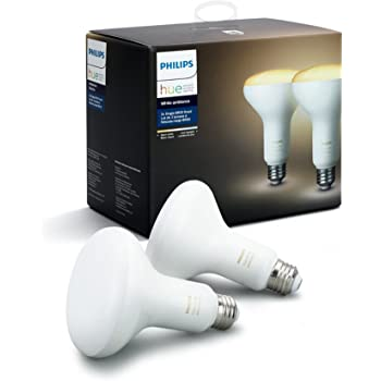 Philips Hue 2-Pack White Ambiance BR30 60W Equivalent Dimmable LED Smart Flood Light, Works with Alexa Apple and Google Assistant, (California Residents)