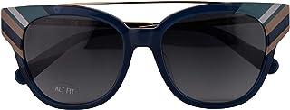 نظارة شمسية سلفاتوري فيراغامو SF882SA اوبالين أزرق مع عدسات متدرجة 54mm 421 SF 882SA