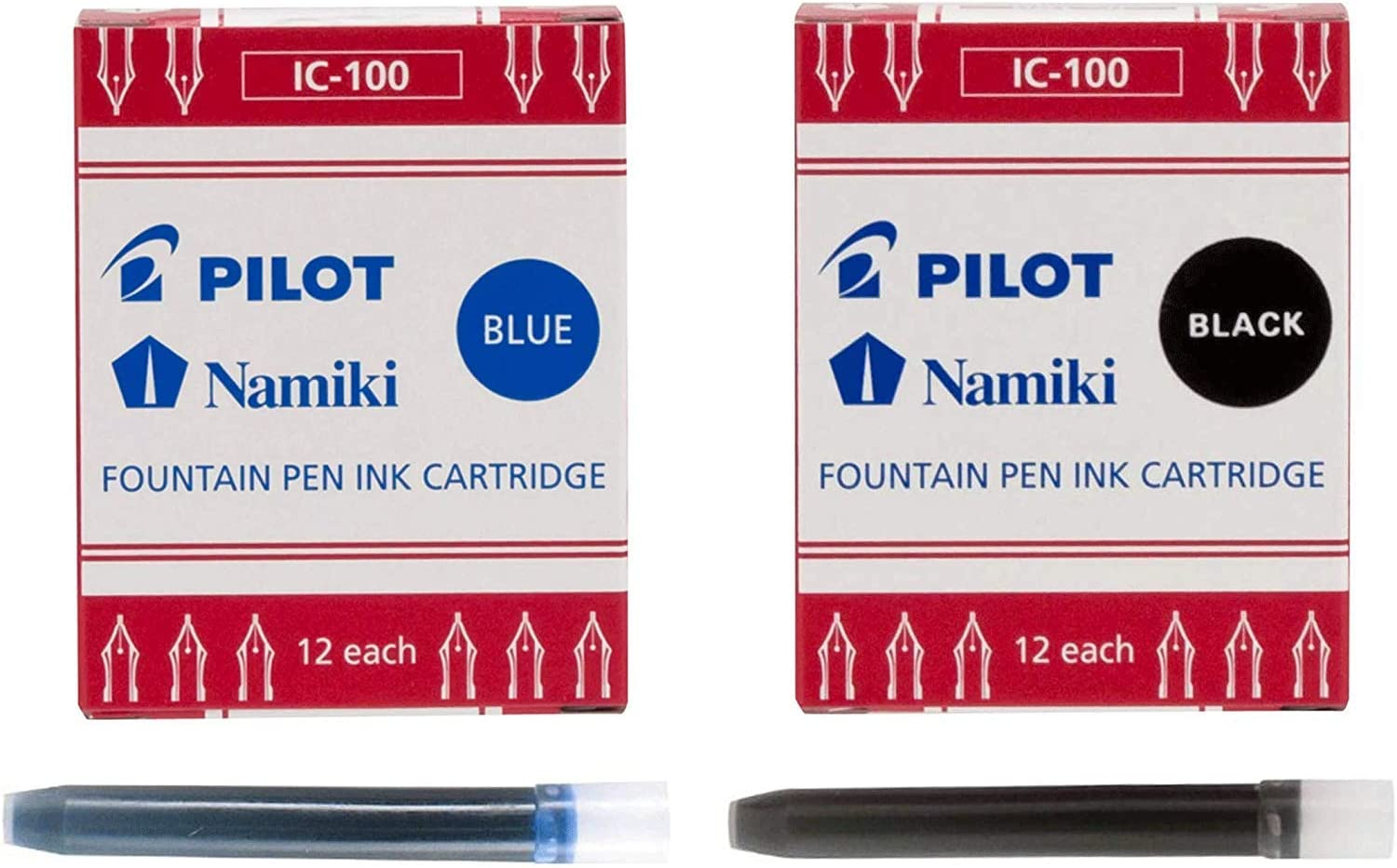 Pilot Namiki IC100 Beauty products Fountain Pen Ink Super Special SALE held Black 24 Pack Cartridge of