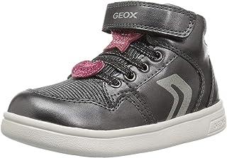 حذاء رياضي برقبة عالية لامعة للأطفال من جيوكس دي جي روك جيرل 12
