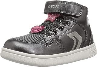 Geox Kids' Dj Rock Girl 12 Glitter High Top Sneaker