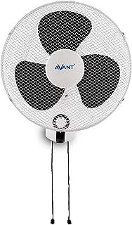 AVANT - Ventilador de Pared Oscilante - Conmovimiento Giratorio - 40 Cm, 45 W, 3 Velocidades, Color Blanco