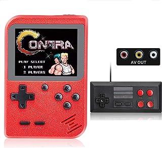 weikin Console De Jeux, Console De Jeu Retro FC, 500 in 1 Console Jeux Classiques Portable Mini Support 2 Joueurs, Recharg...
