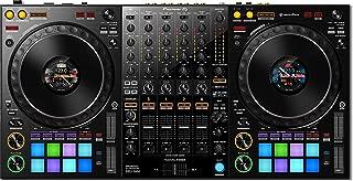 Pioneer DJ DDJ 1000 4 Deck Performance USB DJ Controller for Rekordbox DJ with Rekordbox DJ Software, LCD Jog Display and 16 Multicolor Performance Pads BUNDLE with 6 x Senor Mic Cable & Zorro Cloth