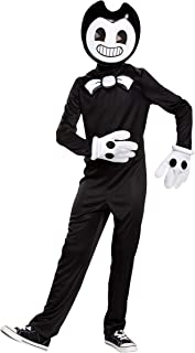 Disguise Bendy & The Ink Machine Classic Child Costume, Large (10-12) Black
