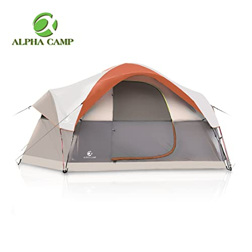 ALPHA CAMP Dome Family Tent Camping Tent - 14 x ...
