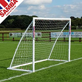 Samba Soccer Goal - Training Grade 8x6- The Premier Locking uPVC Goal That is Perfect for Field or Home. Great All Weather Goal so Leave it Out All Year. Made in The UK.