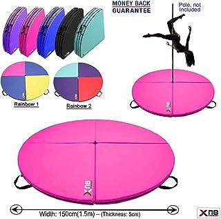 Xn8 - Colchoneta amortiguadora de seguridad para bailar, bailar en barra, hacer gimnasia, ejercicio, yoga, fitnes, etc., de 150 cm de diámetro x 5 cm de grosor