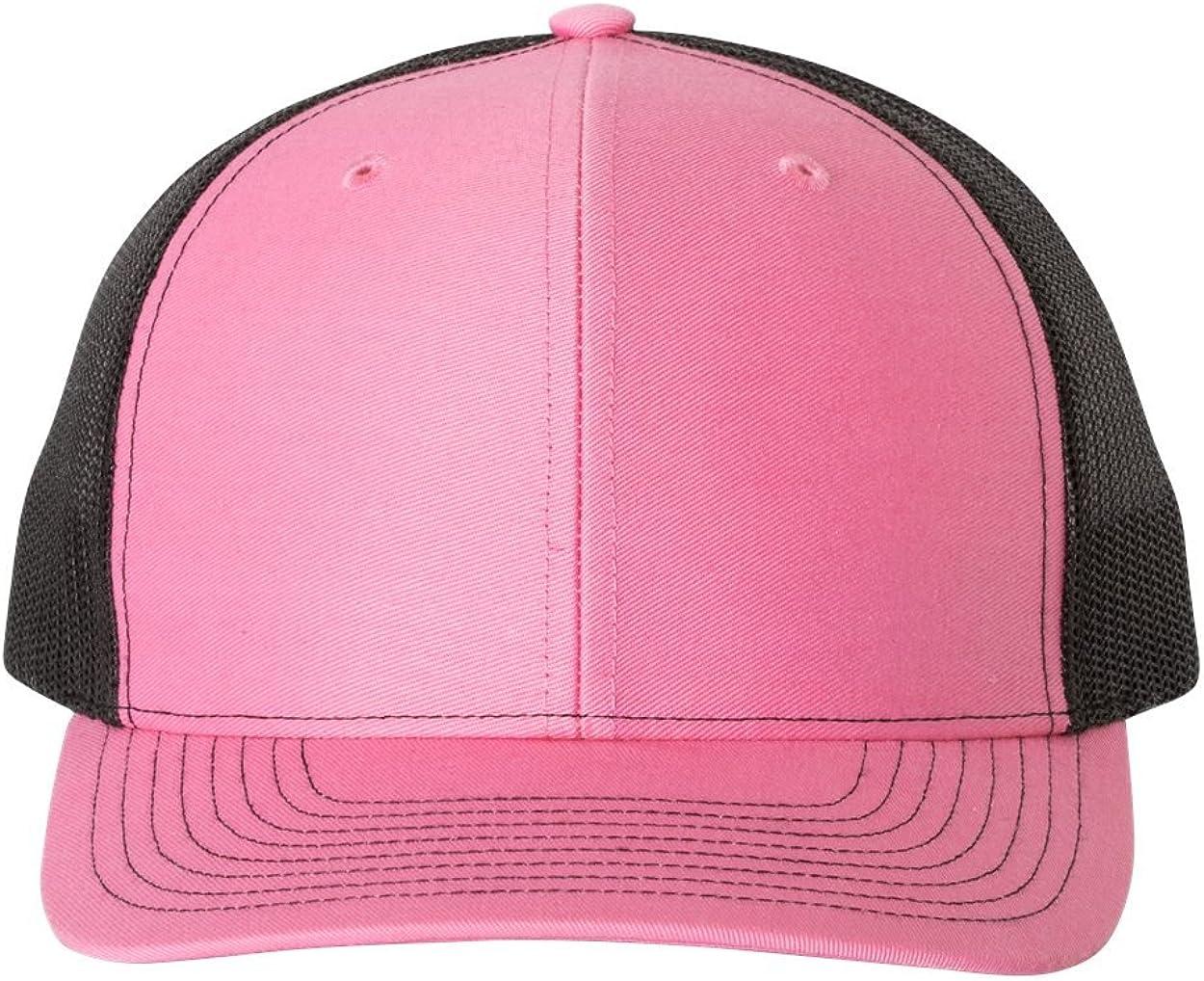 RICHARDSON - Adjustable Snapback Trucker Cap - 112 - OSFM - Hot Pink/Black