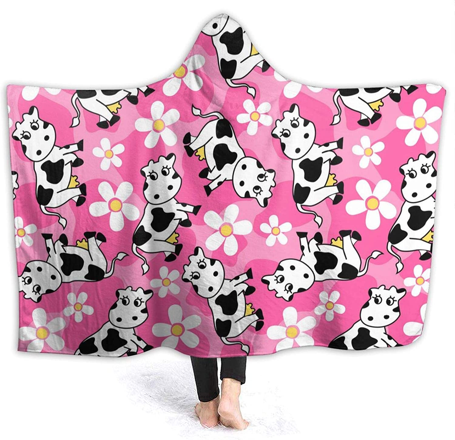 Challenge the lowest price NYIVBE Cute Cow and Flowers Hooded Soft Blanket Cozy Warm Super At the price