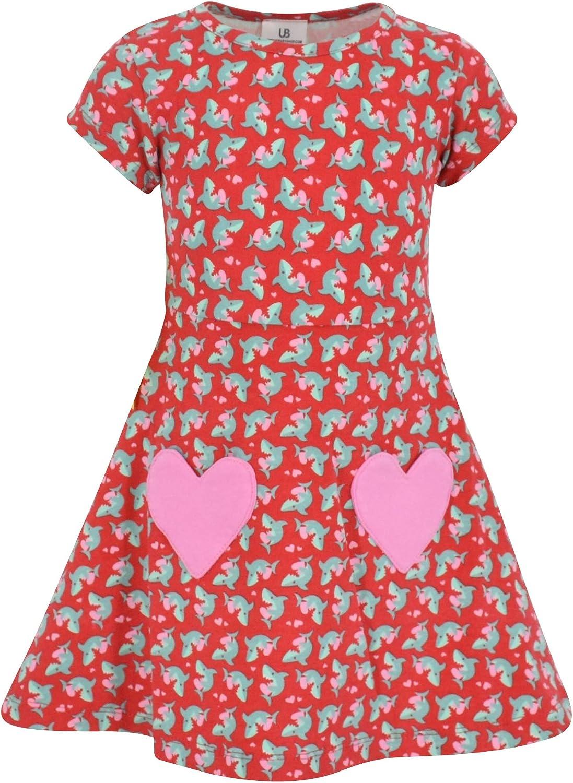 Unique Baby Girls Popular brand Finally resale start Valentine's Day Dress Shark
