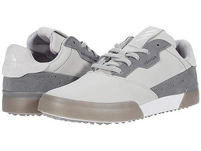 adidas Golf Adicross Retro (Little Kid/Big Kid) (Grey Two/White/Grey Four) Golf Shoes