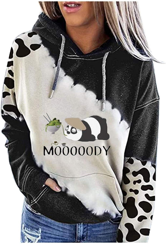 Eoailr Sweatshirt for Women Crewneck Sweatshirts Hoodie Color Bl