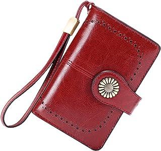 Cartera Mujer Mediana Bloqueo RFID Billeteras Mujer Piel Autentica con Cremallera, Gran Capacidad Billetera Monedero Mujer...