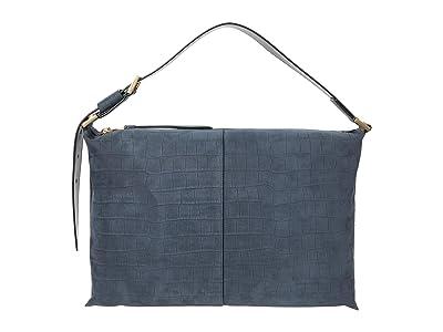 AllSaints Edbury Shoulder Bag (Petrol Blue) Shoulder Handbags