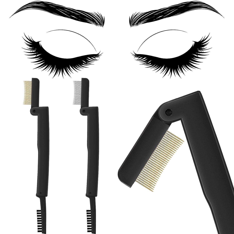 2 Pieces Eyelash Comb Curlers Brush Eyebrow Folding Memphis Max 45% OFF Mall