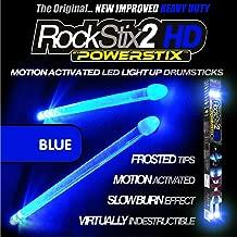 ROCKSTIX 2 HD BLUE, BRIGHT LED LIGHT UP DRUMSTICKS, with fade effect, Set your gig on fire! (BLUE ROCKSTIX)