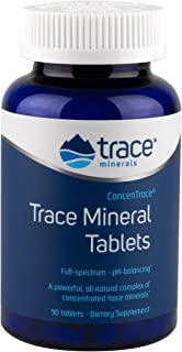 CONCENTRACE Trace Mineral Tablets 90 tab. PH Buffer, Magnesium, Ionic, Vegan, Gluten Free, Hydration, Electrolytes.