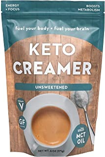 360 Nutrition KETO Creamer With MCT Oil | Unsweetened | Dairy Free Coffee Creamer Milk Substitute | Weight Loss, Energy, F...