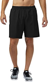 R-Gear Men's Ready to Win 2-in-1 Running Workout Shorts, 7-inch Length with Inner Compression Shorts and Multiple Pockets
