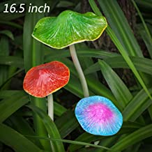 TERESA'S COLLECTIONS 16.5 inch Outdoor Metal Mushroom Fairy Garden Statues Accessories, Outdoor Statues Figurines with Coating Craft Decorations