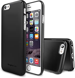 Ringke Slim Compatible with iPhone 6 Case Snug Fit Slender (Tailored Cutouts) Lightweight Thin Scratch Resistant Coating Protective Cover - SF Black