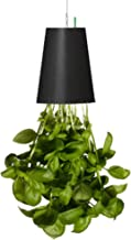 Lovinouse Upside Down Planter, Hanging Plant Flower Pot with Water Storage & Anutomatic Watering System, Including Hanging Rope, Decor for Garden, Home, Office, Shop (Black)
