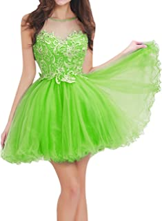Homecoming Dresses Short Lace Cocktail Party Dress Tulle Prom Dress Open Back Sweetheart