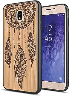 GORGCASE Galaxy J7 2018 case, J7 V 2nd Gen,Galaxy J7 Refine,Galaxy J7 Aero,J7 Star,J7 Top,J7 Crown,J7 Aura,J7 Eon, Slim Wood Pattern Print Design Protective Cover for Samsung J7 V 2018 Dream Catcher