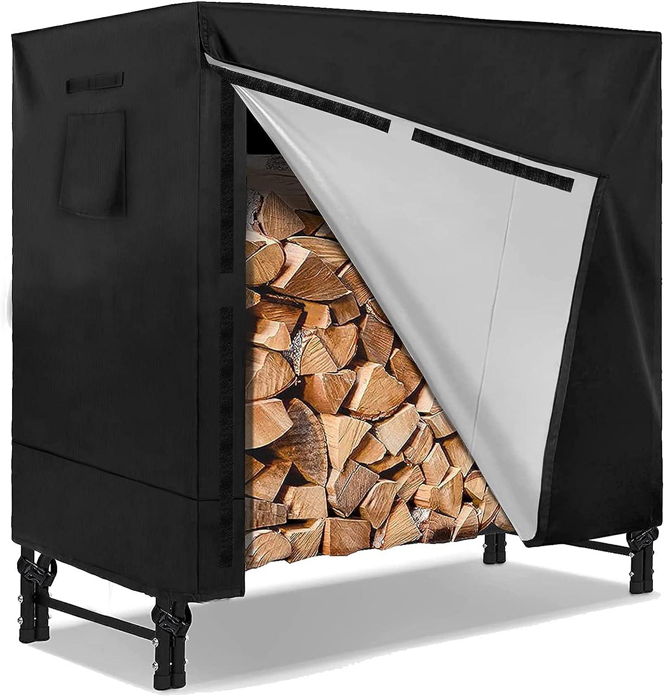 Log Rack Cover IC ICLOVER Heavy Duty Firewood Waterproof Feet Year-end gift Max 66% OFF 4