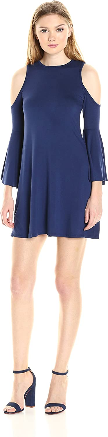 CLAYTON Womens Tala Cold Shoulder Bell Sleeve Dress Dress