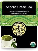 Organic Sencha Green Tea – 18 Bleach-Free Tea Bags – Energizing Tea with Caffeine, Natural Source of Antioxidants and L-theanine, Kosher, GMO-Free