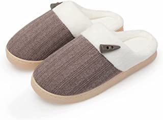 NineCiFun Women's Comfy House Slippers Scuff Memory Foam Slip on Bedroom Slippers Indoor Outdoor Anti-skid Home Shoes with...