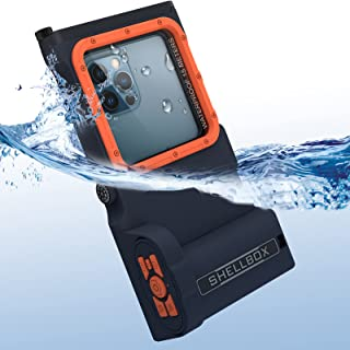 Waterproof Phone Case, Professional 50ft Underwater Phone Case with Bluetooth Remote Control, Compass & Lanyard, Universal Phone Protective Case Compatible for iPhone Samsung LG Google Pixel