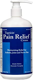 Topricin Pain Relief Therapy Cream (32 oz) Fast Acting Pain Relieving Rub for Back & Neck Aches, Fibromyalgia, Sciatica, P...