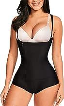 Nebility Women Latex Waist Trainer Bodysuit Slim Full Body Zipper Shapewear Tummy Control Corset